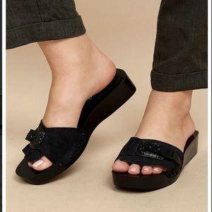 Free people westtown suede leather slide sandal 38